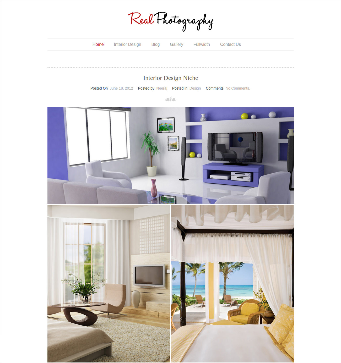 Interior Gallery WP Theme