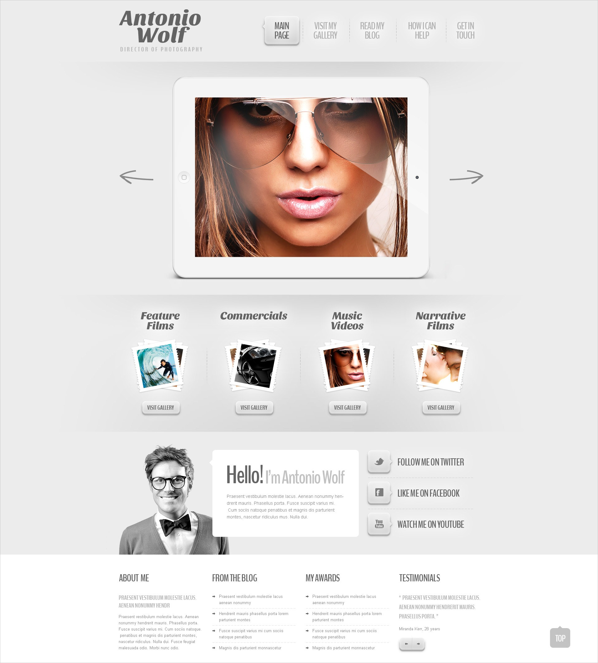 Light Art & Photography WP Theme