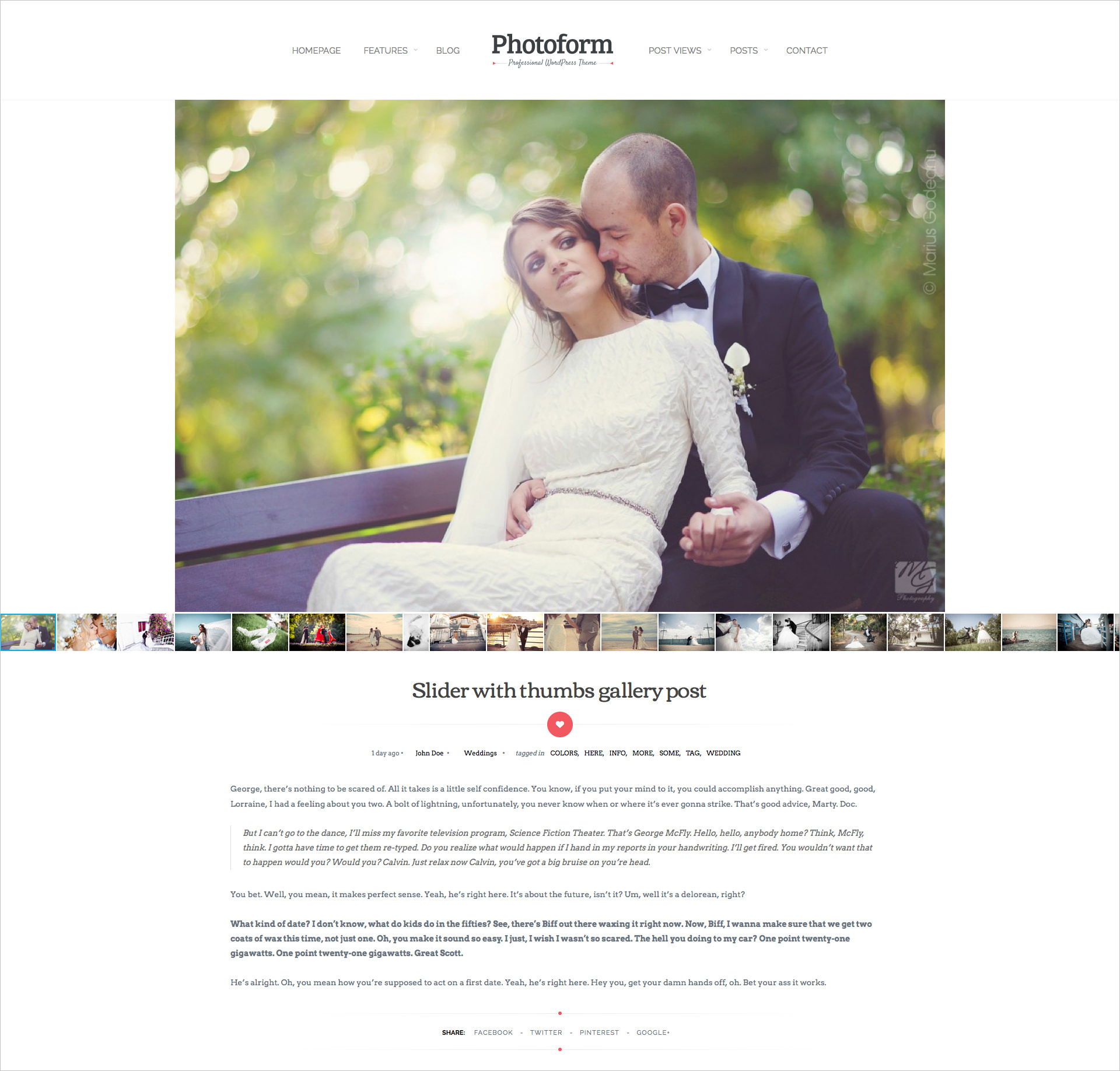 Wedding Photography Theme