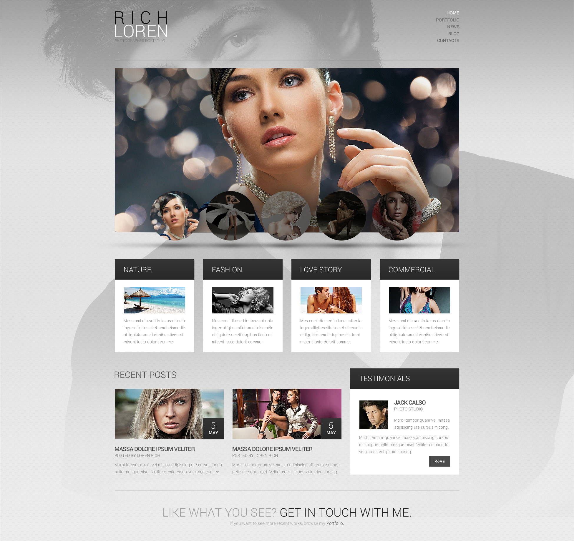 Photographer Portfolio WP Templates