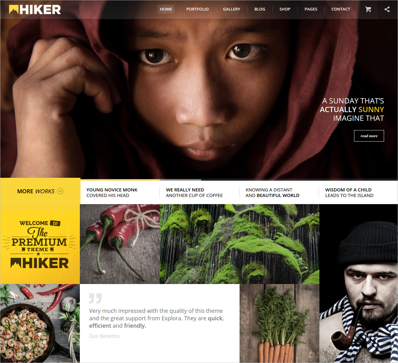 Hiker Photography Website Template