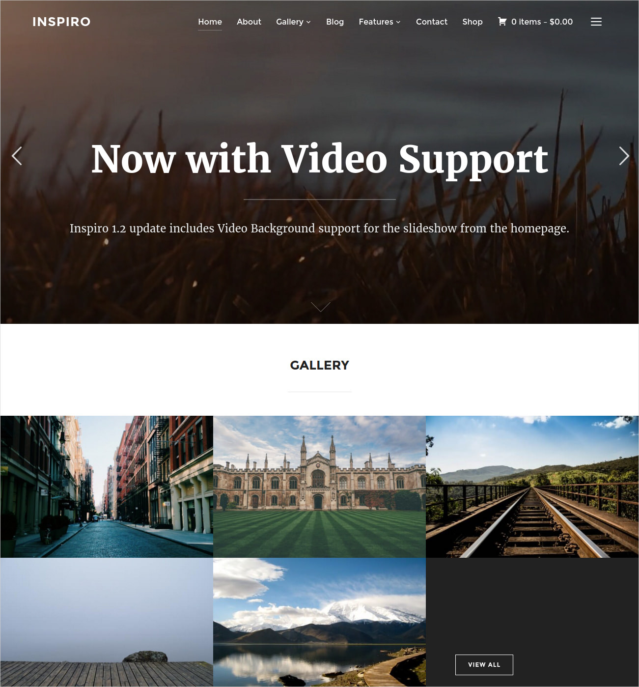 Inspiro Photography Theme