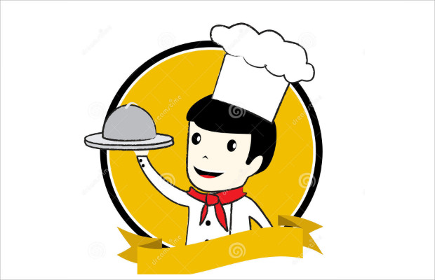 Beautiful Happy Chef Logo
