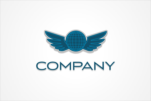 Winged Globe Logo Design