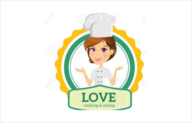 female chef logo