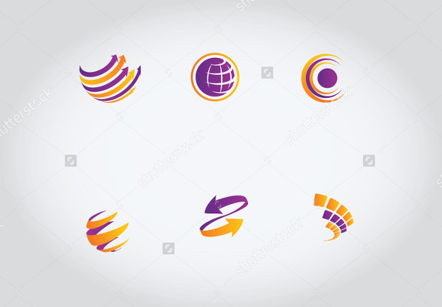 Set of Globe Vector Logos