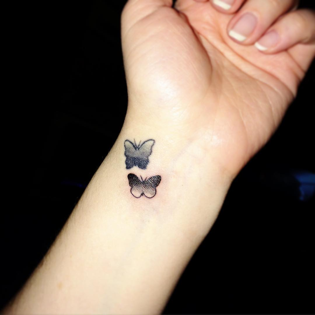 tiny and cute butterfly tattoos