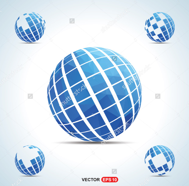 Awesome Vector Globe Logo Design