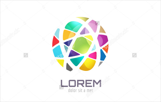 Abstract Vector Earth Globe Logo