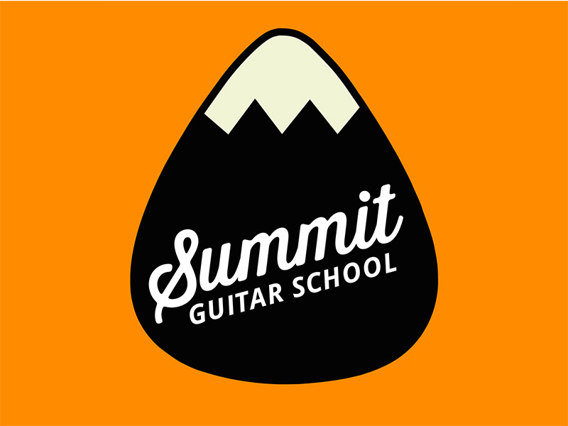 guitar school logo design
