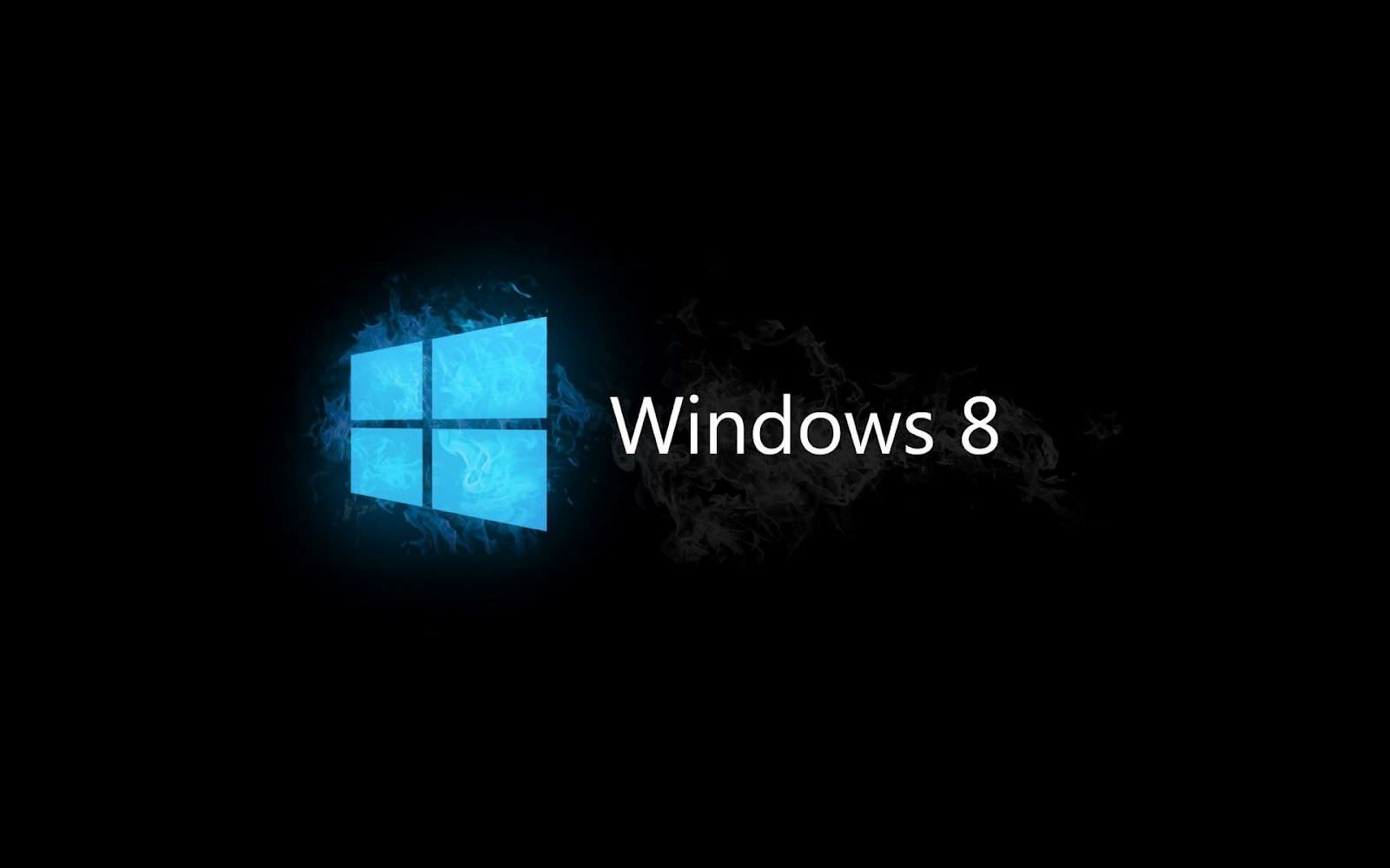 Black Background Windows 8 Wallpaper