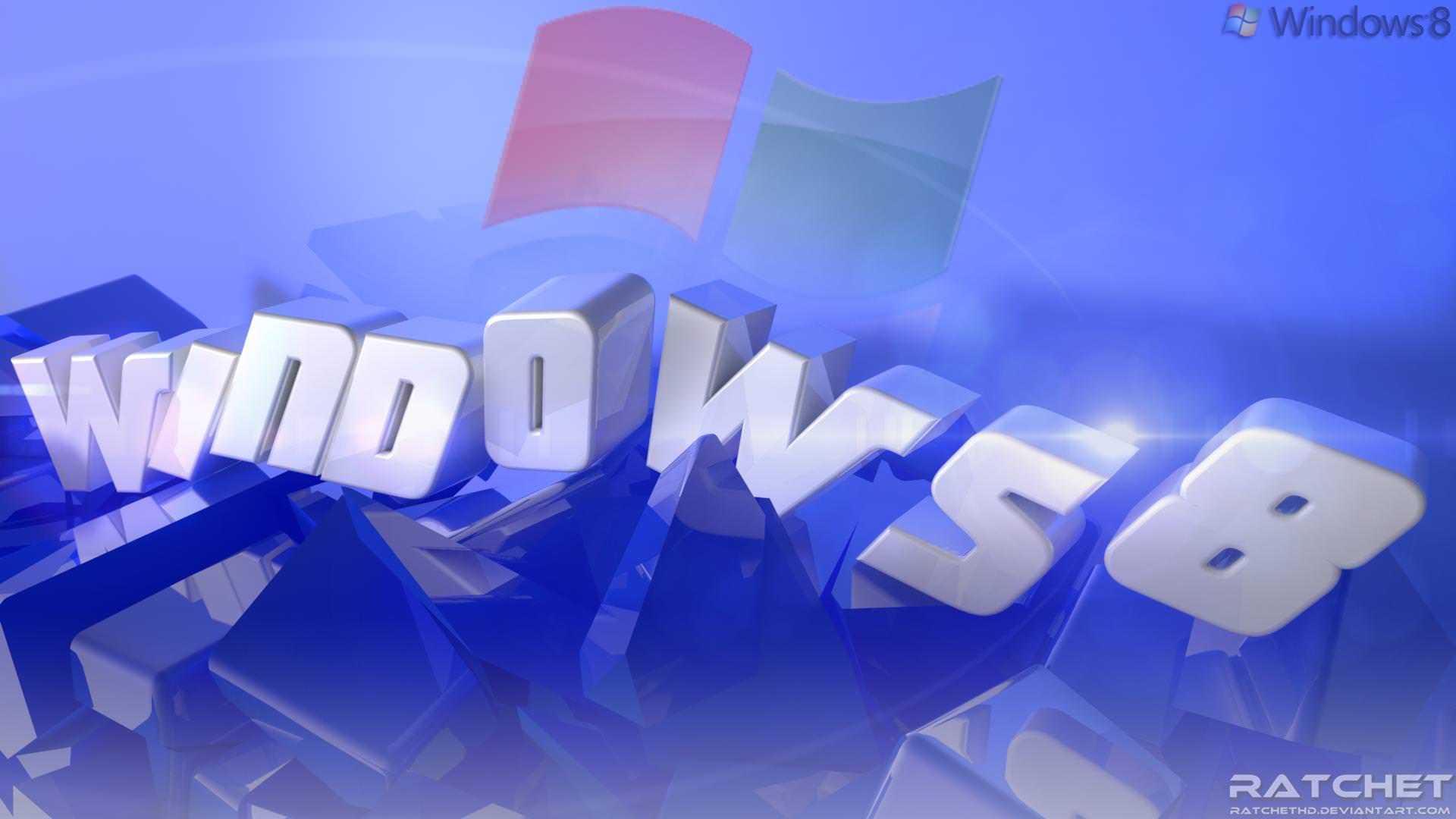Blue Colored Windows 8 Wallpaper