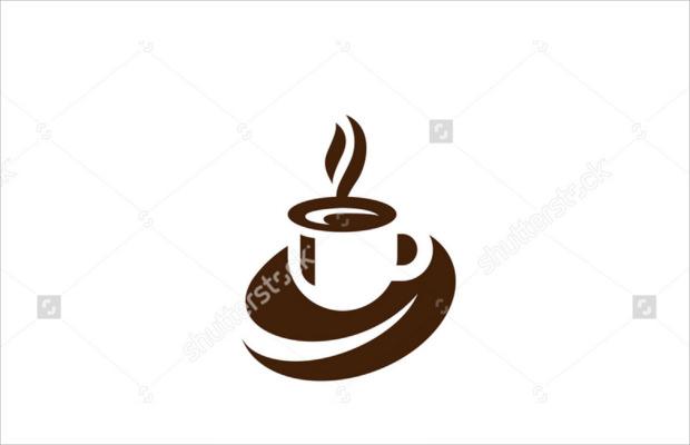 awesome coffee cup foam logo