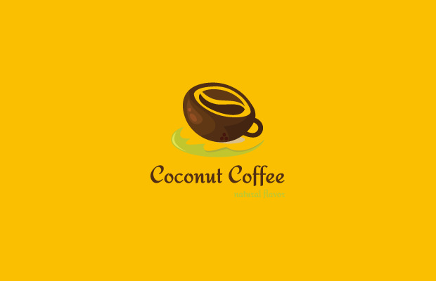 Stunning Coconut Coffee Logo