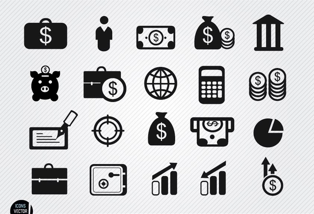 finance icon set1
