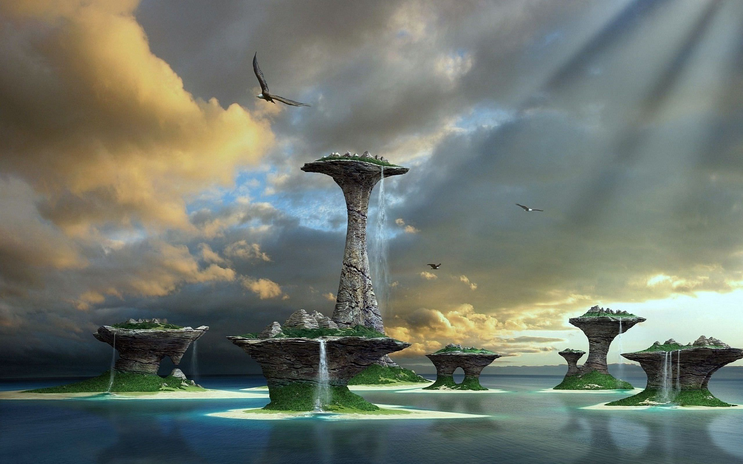Window 8 3D Fantasy Lake Wallpaper