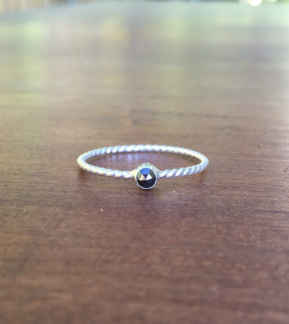 Natural Coloured Diamond Stacking Ring