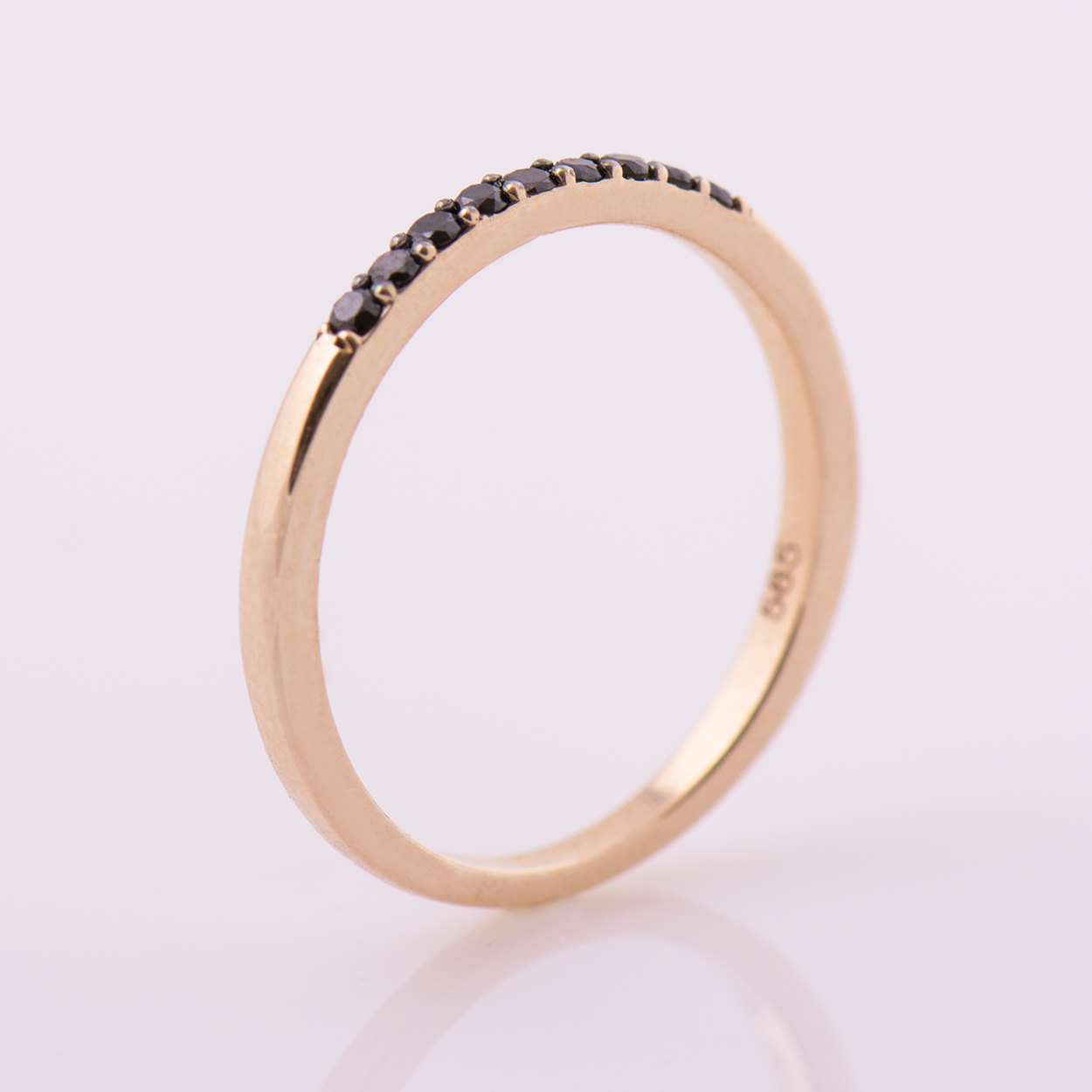 dainty stacking ring half eternity band