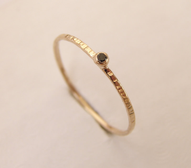 Thin Black Diamond ring