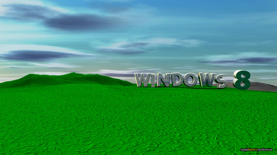 Windows 8 Bliss Style 3D Wallpaper