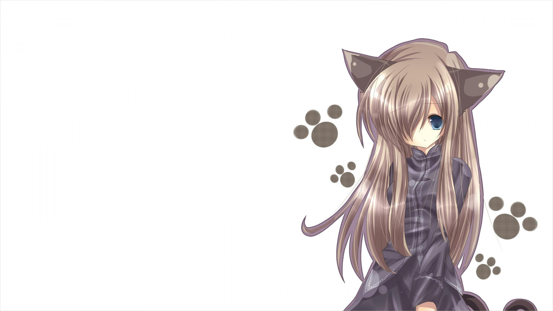 cute cat girl wallpaper background1