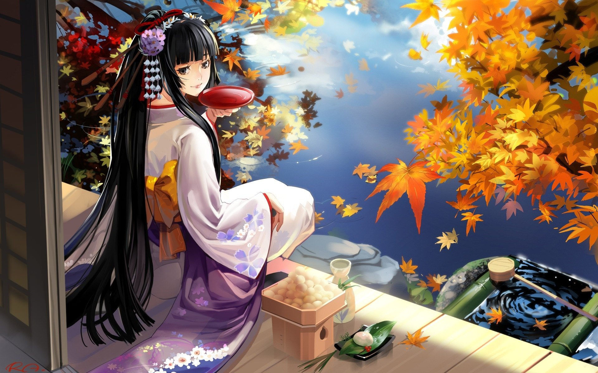 Geisha Anime Fabulous Background