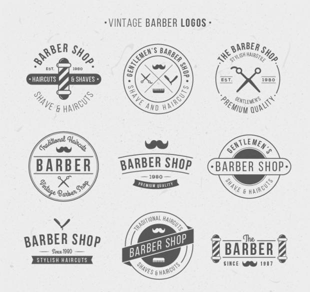 Vintage Logos for Barber Shop