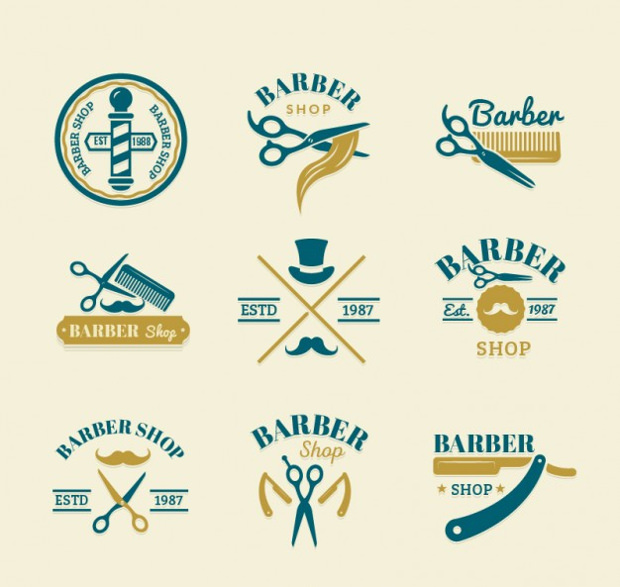 cute barber logo designs