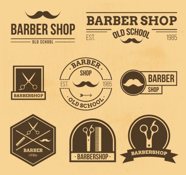 barbar logos in retro style