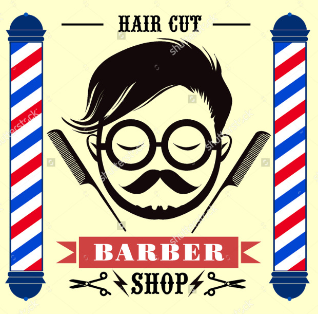 Barbar Shop Lables Logo