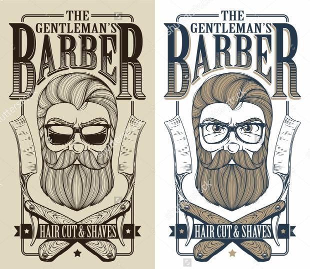 Gentleman's Barber Logos