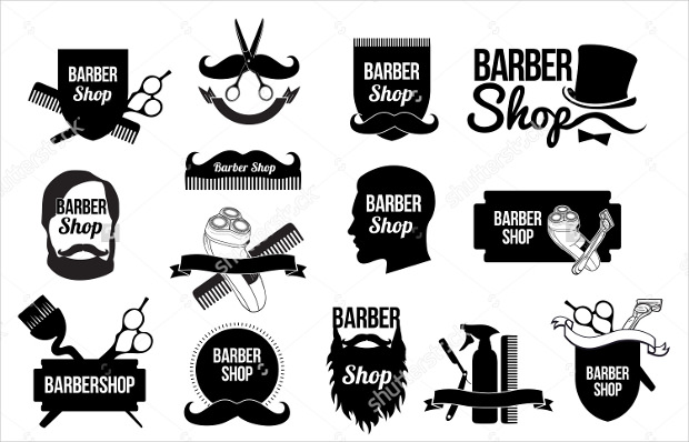 mens haircut logo design