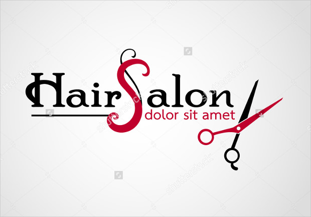 hairsalon logo design for barber shop
