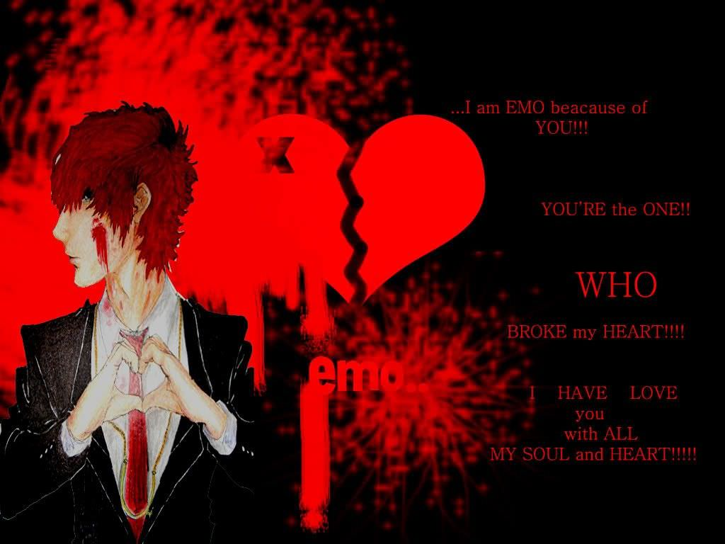 Sweet Love Emo Wallpaper