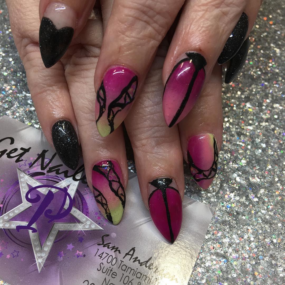 30+ Colourful Acrylic Nail Art Designs , Ideas | Design Trends ...