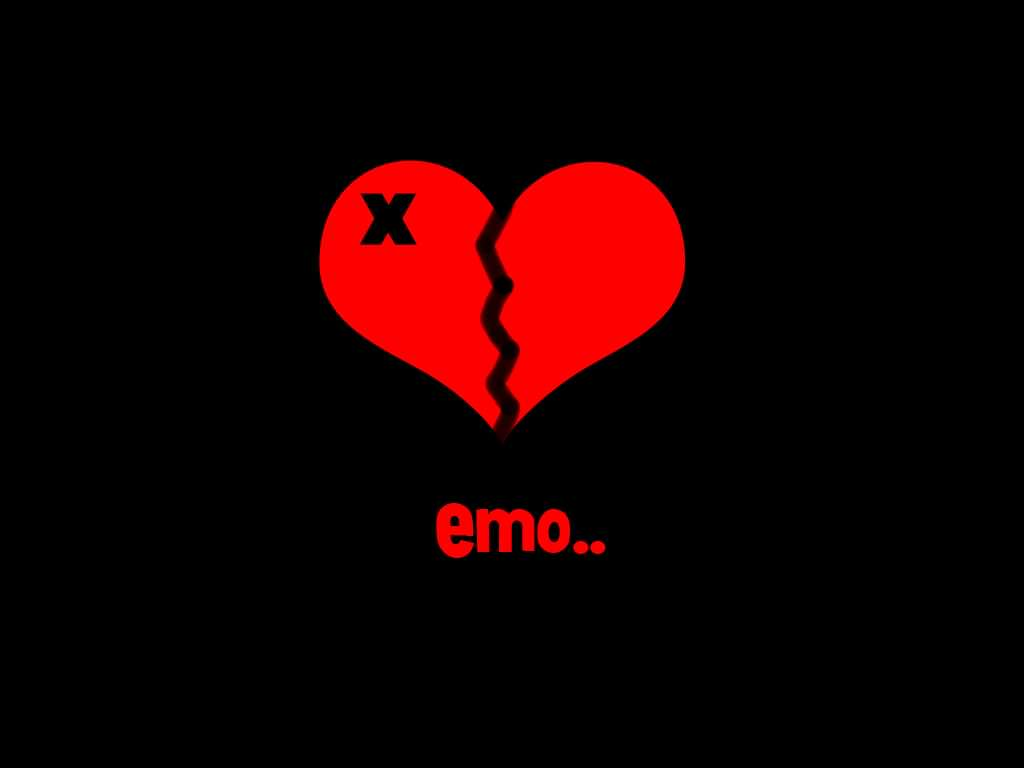 Simple Emo Broken Heart Background