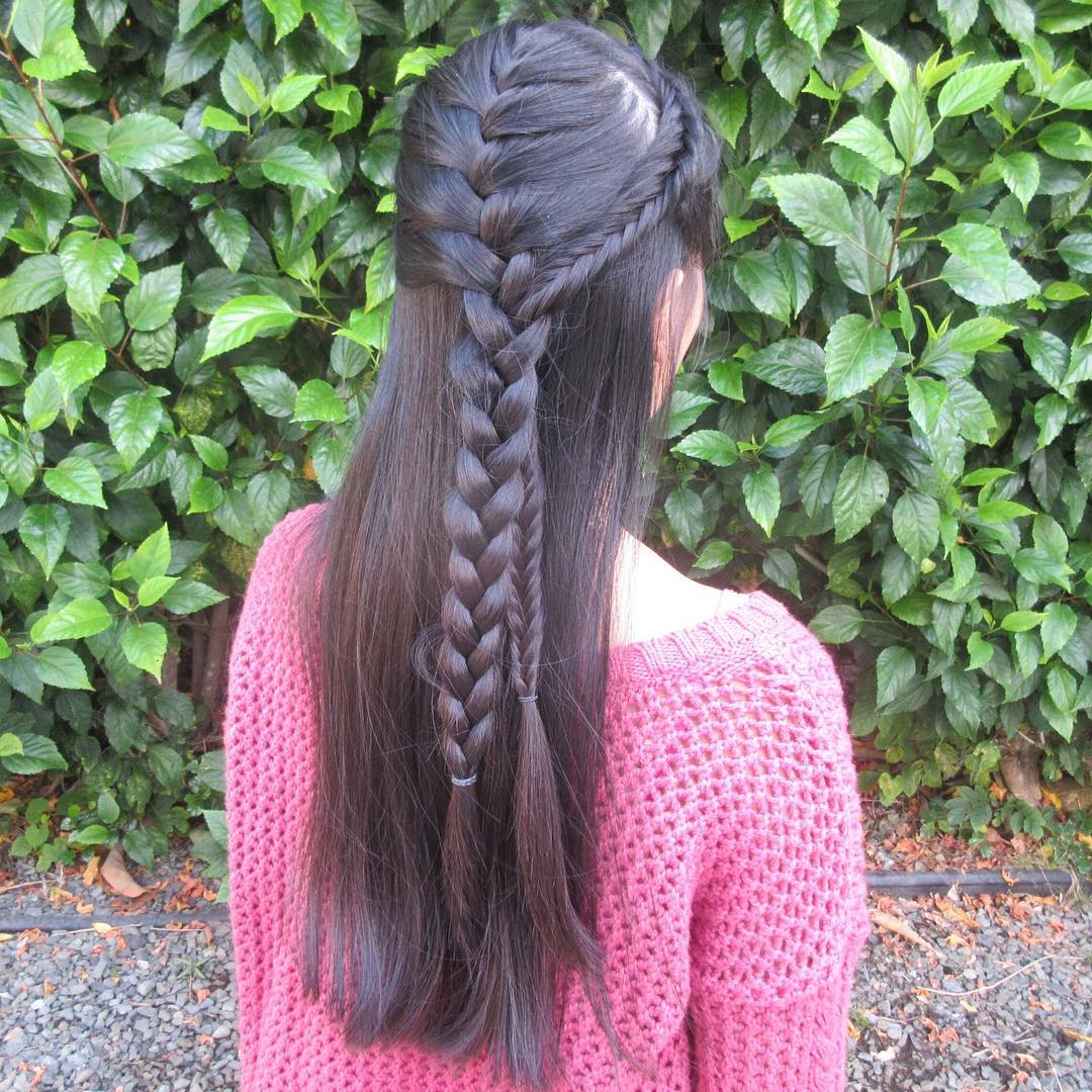 Black Braided Hair.