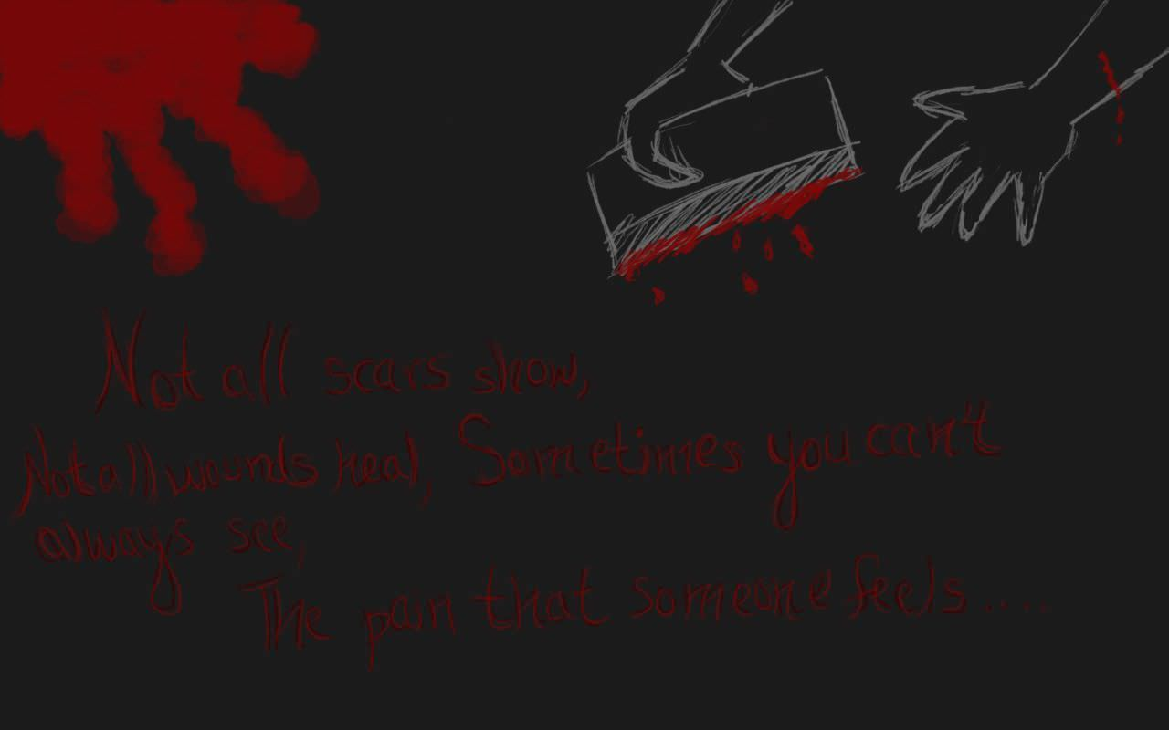 Emo with Pain Wallpaper Background