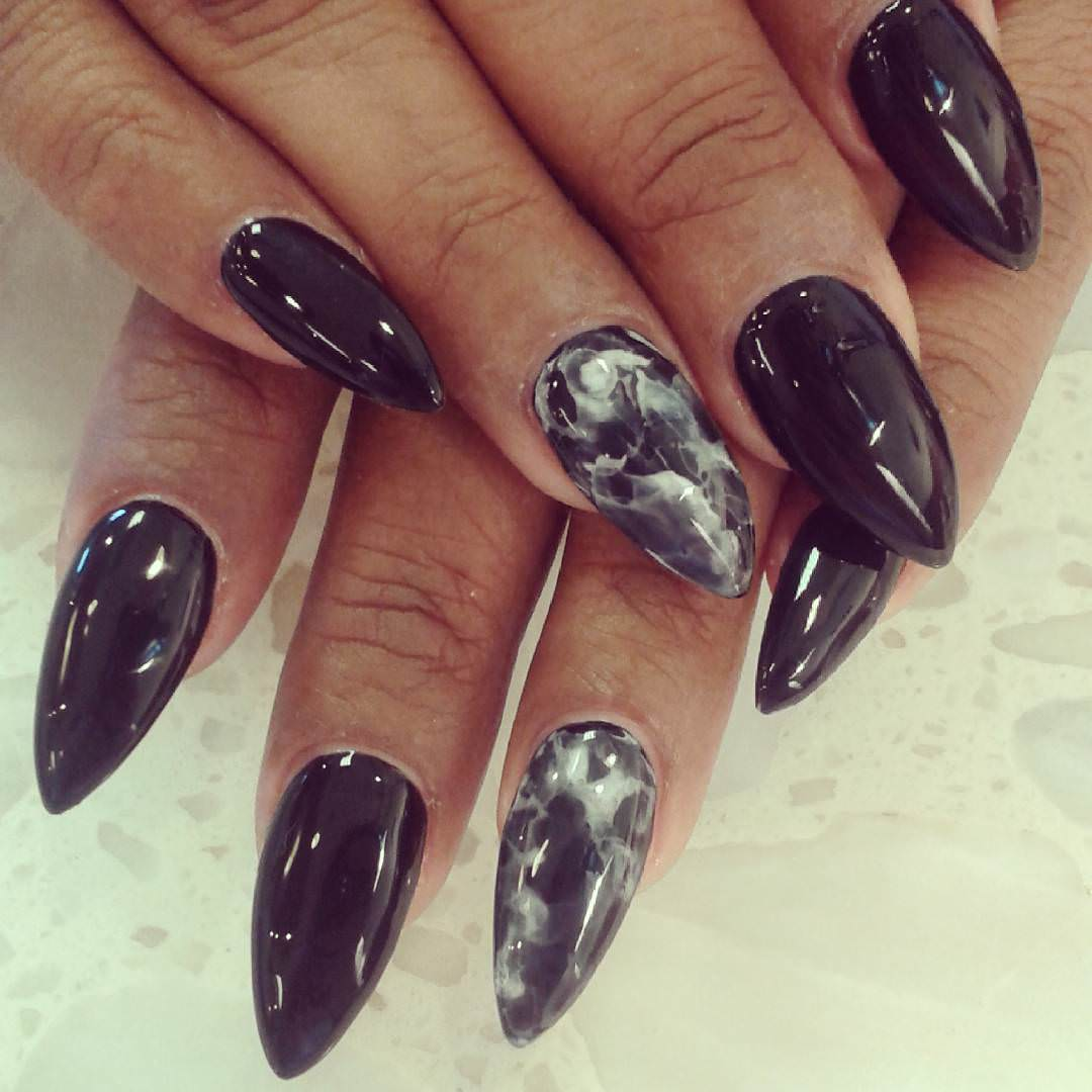 Black Nail Design For Women