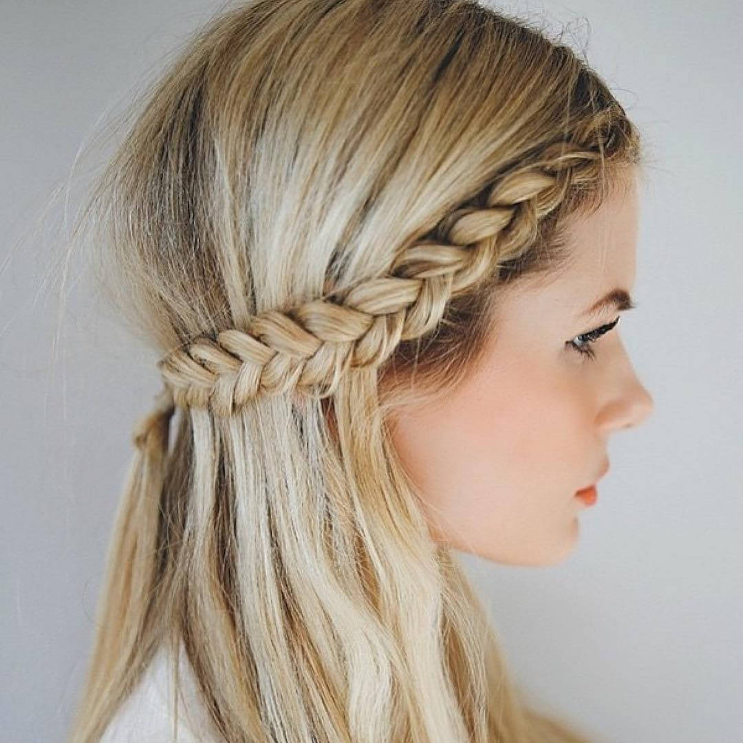 Gold Colored Hairstyle