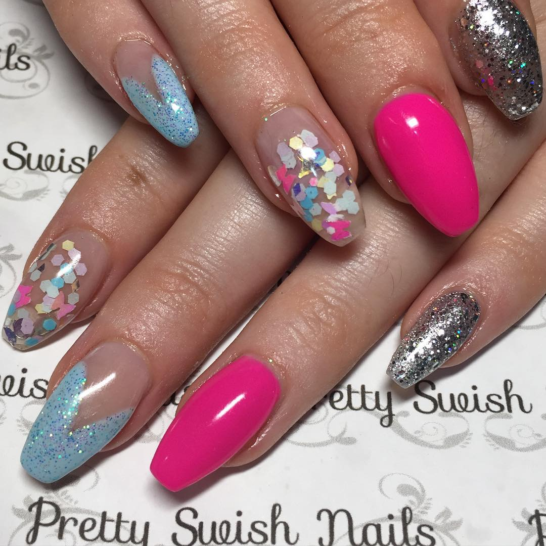 30+ Colourful Acrylic Nail Art Designs , Ideas