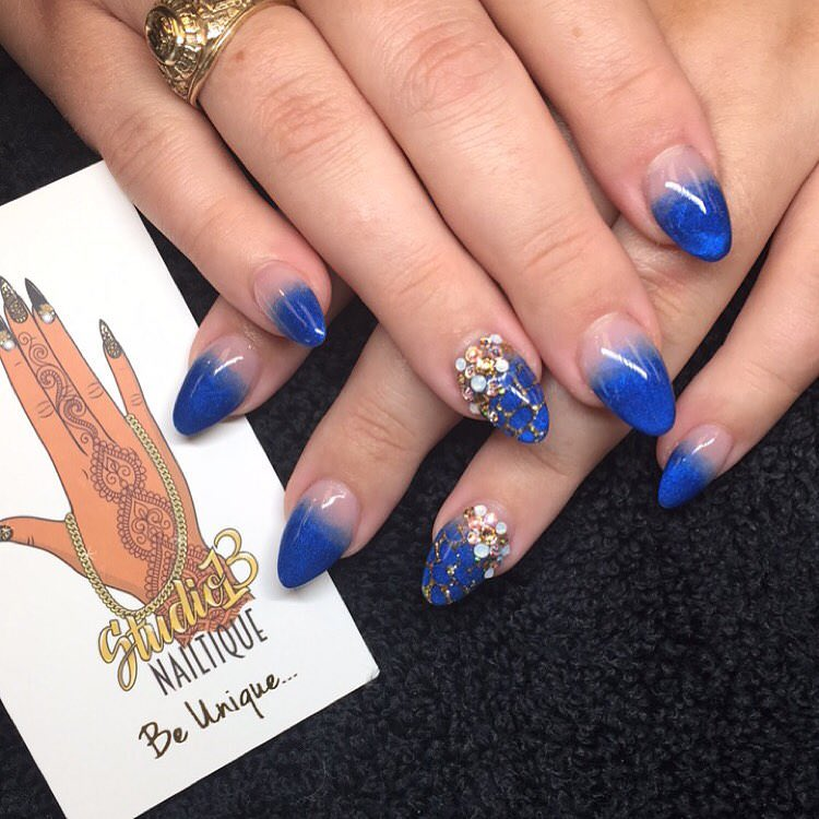 Blue Color Nail Design