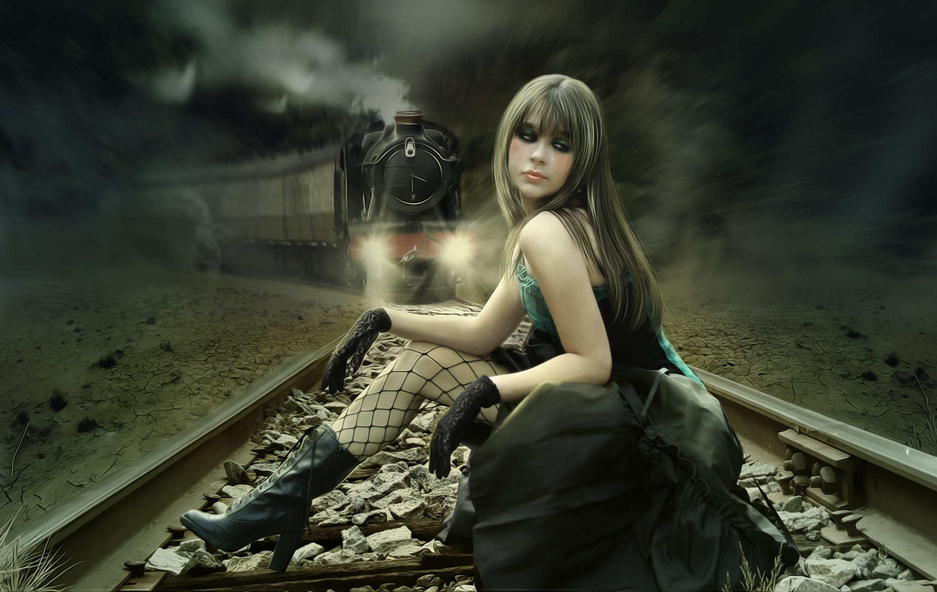 Train Suicide Emo Wallpaper