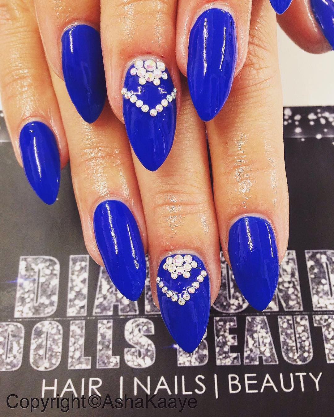 Royal Blue Nail Design - 30+ Colourful Acrylic Nail Art Designs , Ideas Design Trends
