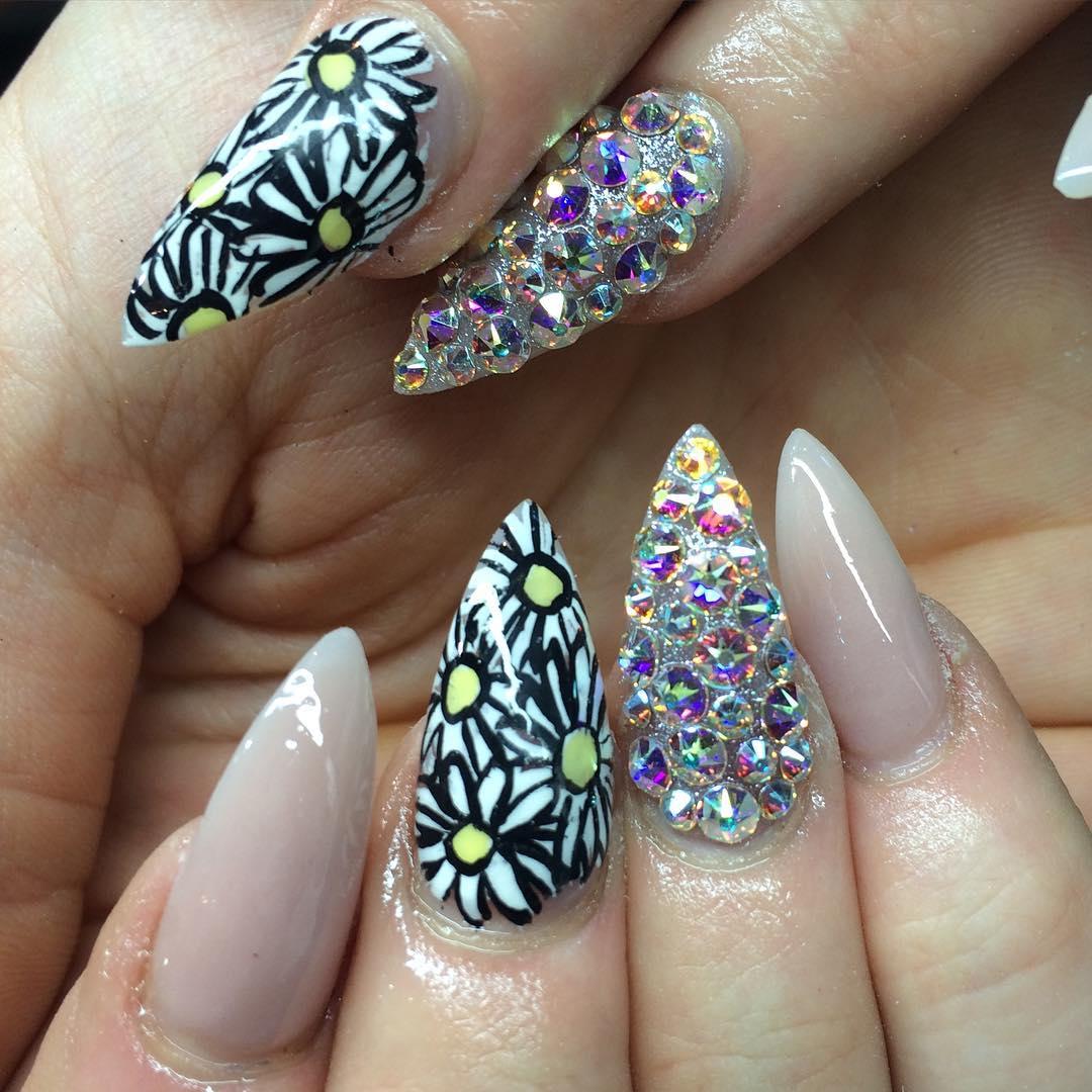 flower design nail art1