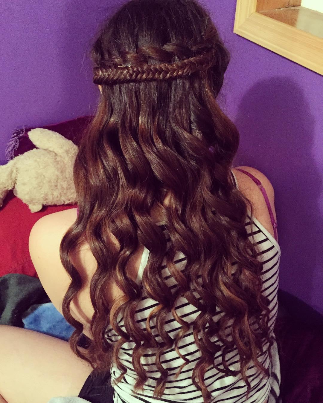 designed long hair