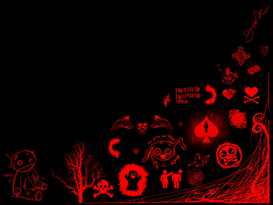 Black and Red Emo Background