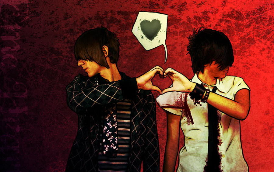 Emo Heart Background