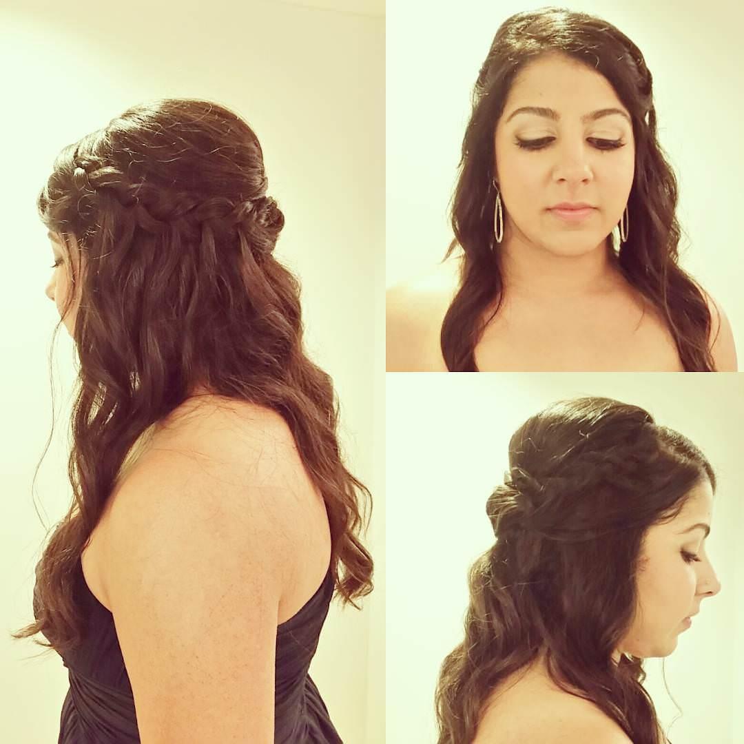bridal short hairstyle