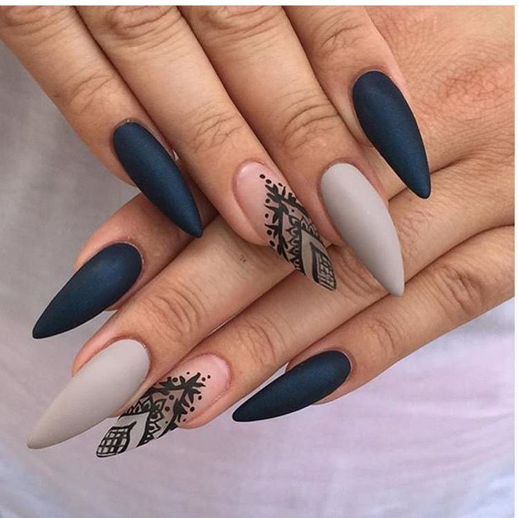 Amazing Sharp Prom Nails